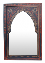Moroccan Mirror Arched Zouak Wood Handmade Large 90cm x 60cm (ZM36)
